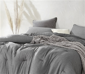Chainlink Carbon Twin XL Comforter - 100% Yarn Dyed Cotton
