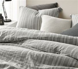 Charter Gray Twin XL Comforter - 100% Yarn Dyed Cotton