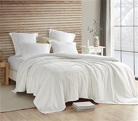 Coma Inducer Twin XL Blanket - Wait Oh What - Farmhouse White