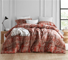 Copper and Brown College Comforter Brucht Designer Unearthed Dorm Bedding Essentials
