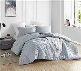 Natural Loft® Twin XL Comforter - Yarn Dyed Blue