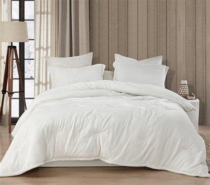 Coma Inducer Twin XL Comforter - Wait Oh What - Farmhouse White