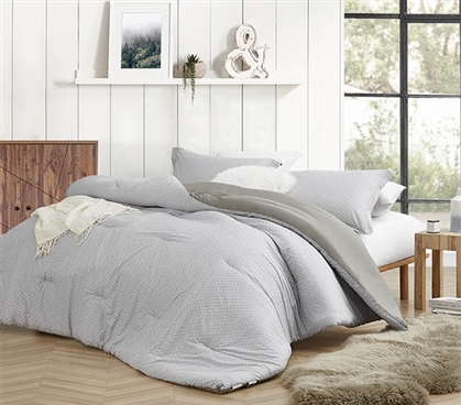 Stylish XL Twin Bedding Decor Flyin Home Farmhouse Gray Oversized College Comforter