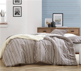 McCarthy Stripes - Earthtones Twin XL Comforter - 100% Cotton