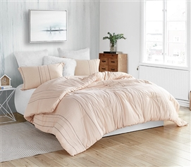Super Soft 100% Cotton College Comforter Creme De La Yarn Dyed Twin Extra Long Bedding
