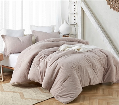 Lilac Mauve Yarn Dyed Twin XL Comforter