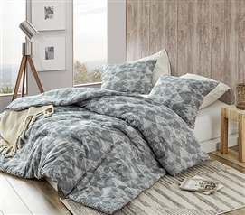 Ultra Cozy Cotton Extra Long Twin Comforter Unique Vivify Slate Blue Designer College Bedding Decor