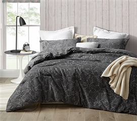 Black XL Twin Comforter with Unique Textured Design Lavishly Poetic One of a Kind Dorm Bedding Made with Cozy Microfiber Jacquard