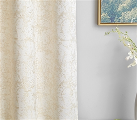 Stylish Gold Coast College Privacy Room Divider Fabric Made with Microfiber Jacquard Material