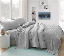 Plush Dorm Bedding Sheets for Amazing Twin XL Bedding Comforter Tundra Gray Wait Oh What Coma Inducer Cozy College Sheets