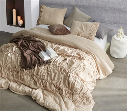 Douro Valley Twin XL Duvet Cover - Toasted Almond