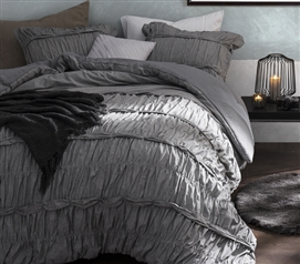 Torrent - Handcrafted Series Twin XL Comforter - Gray