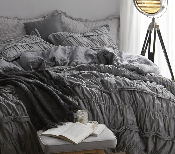 Gray Dorm Bedding Torrent Handcrafted Series Duvet Cover Gray Twin