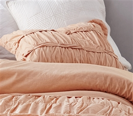 Torrent Handcrafted Series Sham - Apricot Nectar