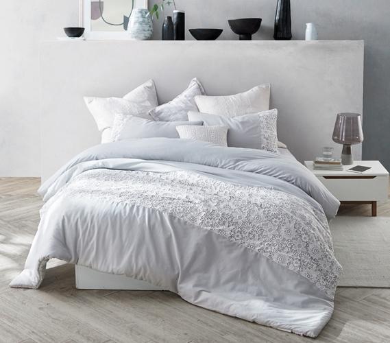 White Lace Twin Xl Comforter Glacier Gray