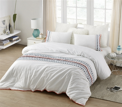 Isla del Sol - Embroidered Twin XL Duvet Cover
