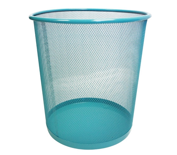 Wire Waste Paper Basket wire mesh waste basket dorm waste basket college garbage trash bin