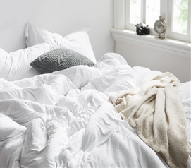 Super Soft Twin XL Comforter White Bare Bottom® Made with Most Comfortable College Bedding Material for Dorm Bed