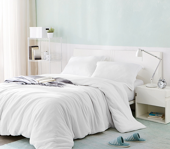 One Of A Kind Comfortable Dorm Bedding Ultra Cozy White Bare Bottom Extra Long Twin Duvet
