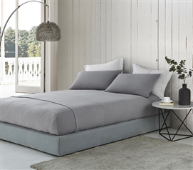 Bare Bottom Sheets - All Season - Twin XL Bedding - Alloy
