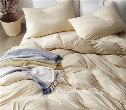 Bare Bottom Sheets - Winter Warmth - Twin XL Bedding - Cream