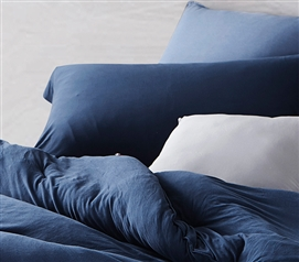 Bare Bottom Sham - Nightfall Navy