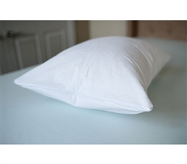 Cotton Terry Pillow Cover - Standard Pillow Cover Dorm Essentials College Supplies