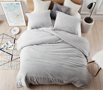 Best Dorm Bedding for Twin XL Sized Bed Glacier Gray College Comforter Plush Coma Inducer