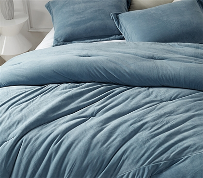 Coma Inducer Twin XL Comforter - Baby Bird - Smoke Blue