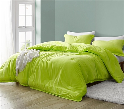 Baby Bird - Coma Inducer Oversized Twin Comforter - Acid Lime
