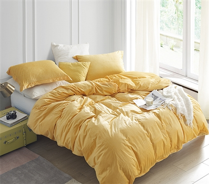 Coma Inducer Twin XL Duvet Cover - Baby Bird - Mimosa
