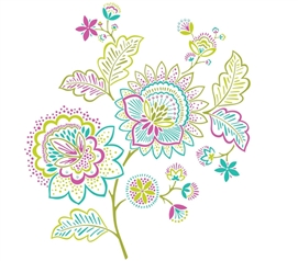 Bring Color To Dorm Walls - Delila Wall Art - Peel N Stick - Great Decor For Dorms