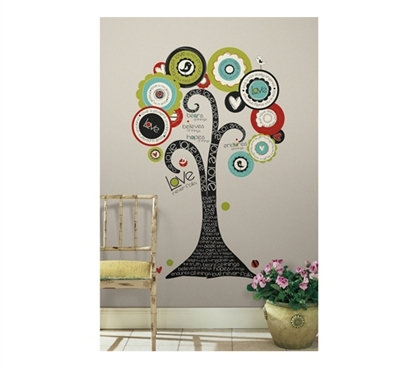 Decorate Your Dorm - Tree of Love, Faith and Hope - Peel N Stick - Add A Great Centerpiece For Your Wall Decor