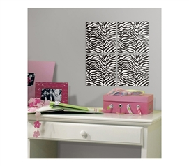 Zebra Foam Tiles - Peel N Stick (Includes 4 tiles) - Cool Zebra Decor