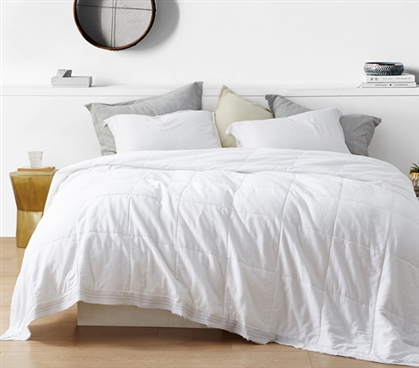 Bom Dia - 300TC Washed Sateen Twin XL Quilted Comforter