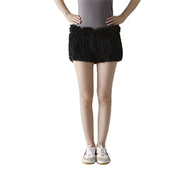 Must Have College Supplies Black Bear Booty Unleashed Furry Shorts Perfect for Sporting Events