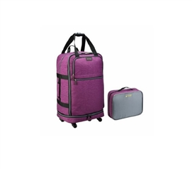 Foldable College Luggage - Purple College Supplies Dorm Luggage