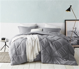 Comfy Yet Cheap - Alloy Comforter - Twin XL - Microfiber Fabric