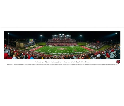 Dorm Room Decorations Arkansas State Red Wolves - Centennial Bank Stadium Panorama Dorm Wall Art