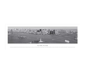 New York City, New York - Black and White Panorama
