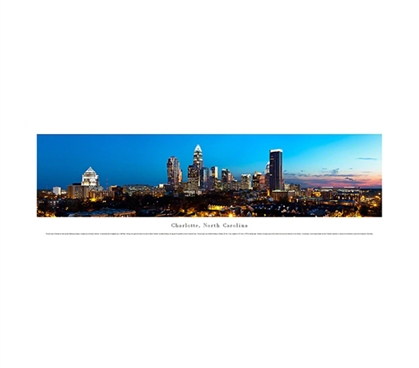 Charlotte, North Carolina - Lights Panorama Dorm Room Decorations Must Have Dorm Items