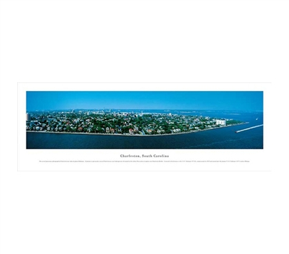Charleston, South Carolina - Panorama Dorm Wall Art College Wall Decor