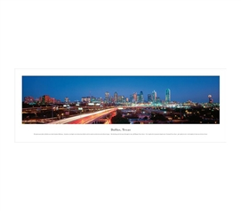 Dallas, Texas - Lights Panorama Dorm Essentials Cool Dorm Room Ideas