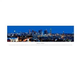 Dallas, Texas - Deep Blue Panorama Dorm Room Decorations