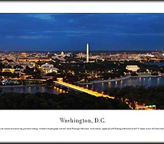 Washington Dc Twilight Panorama
