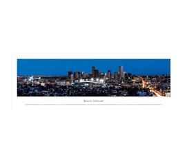 Denver, Colorado - Twilight Panorama