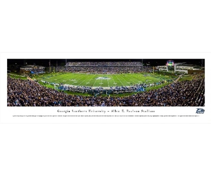Georgia Southern University - Allen E. Paulson Stadium Panorama Dorm Necessities Dorm Room Decor