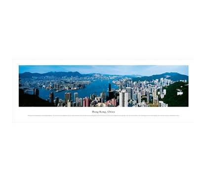 Hong Kong, China - Skyline Panorama