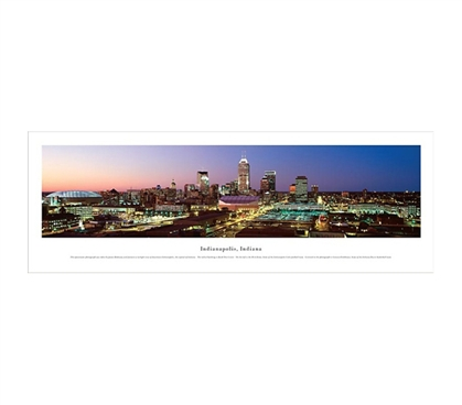 Indianapolis, Indiana - Twilight Panorama