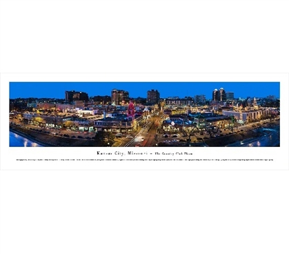 Kansas City, Missouri - The Plaza Panorama College Supplies Dorm Wall Art